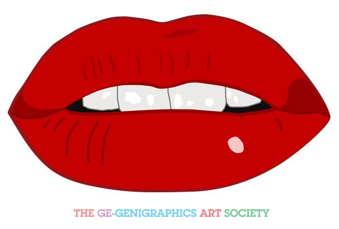 how to draw pop art lips